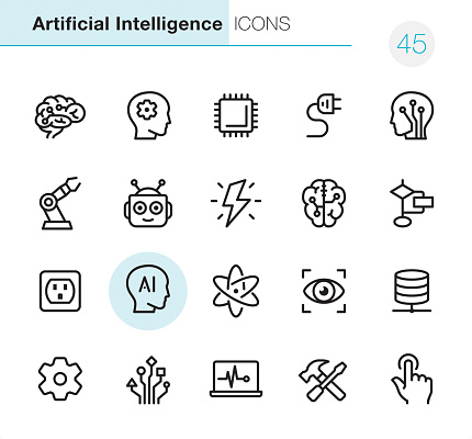 Artificial Intelligence - Pixel Perfect icons - gettyimageskorea