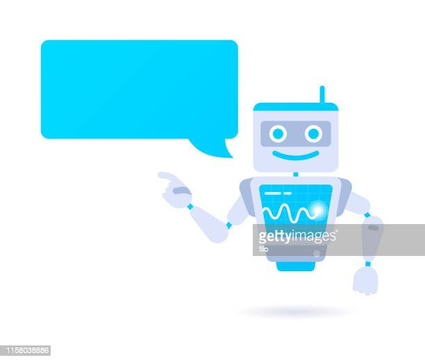 artificial intelligence robot character - robot stock illustrations