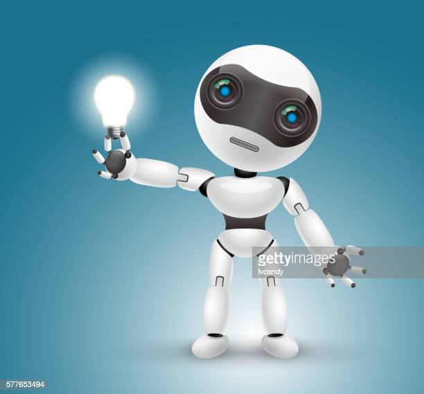 artificial intelligence robot - cyborg stock illustrations, clip art, cartoons, & icons