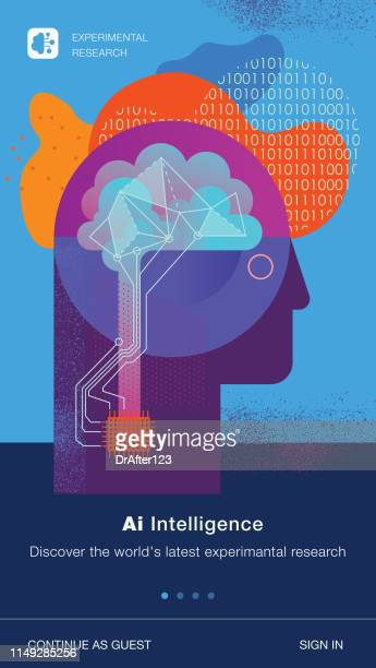artificial intelligence template - biology stock illustrations