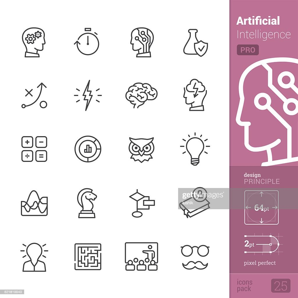 Artificial Intelligence vector icons - PRO pack