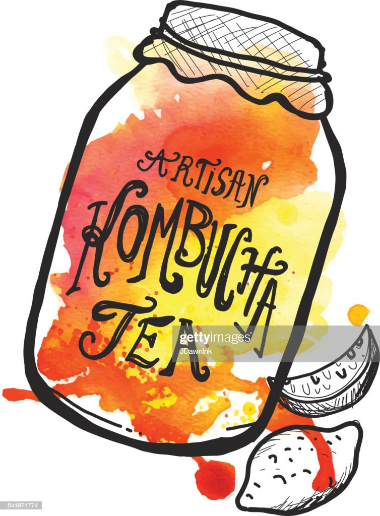 アルティザン 紅茶キノコ ラベルレタリングデザイン : ストックイラストレーション