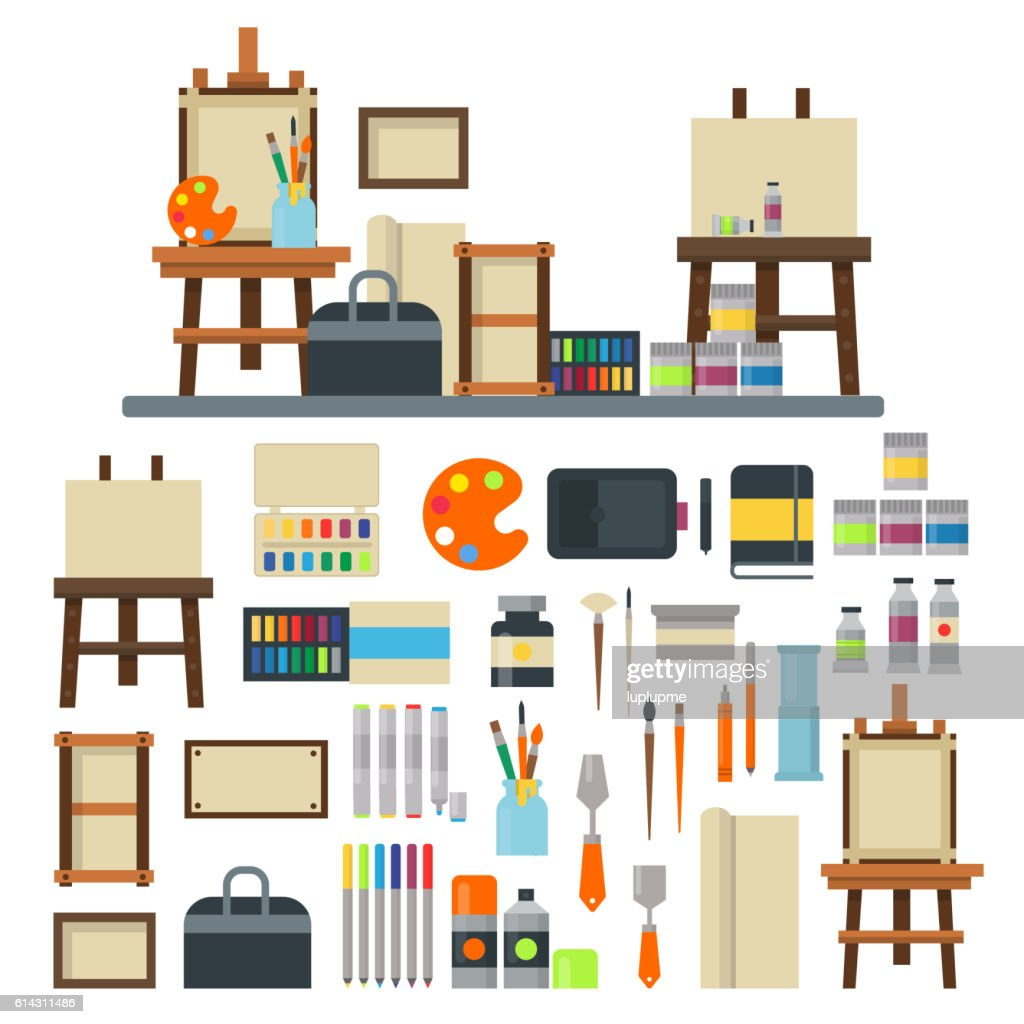 Artist icons vector set.