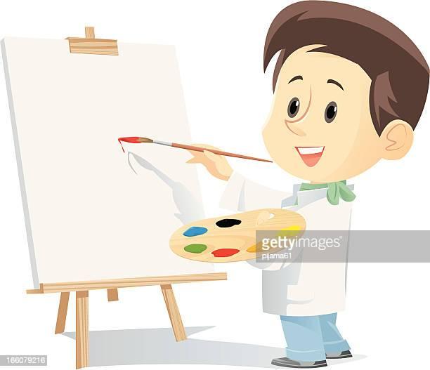 illustrazioni stock, clip art, cartoni animati e icone di tendenza di artista - pittore