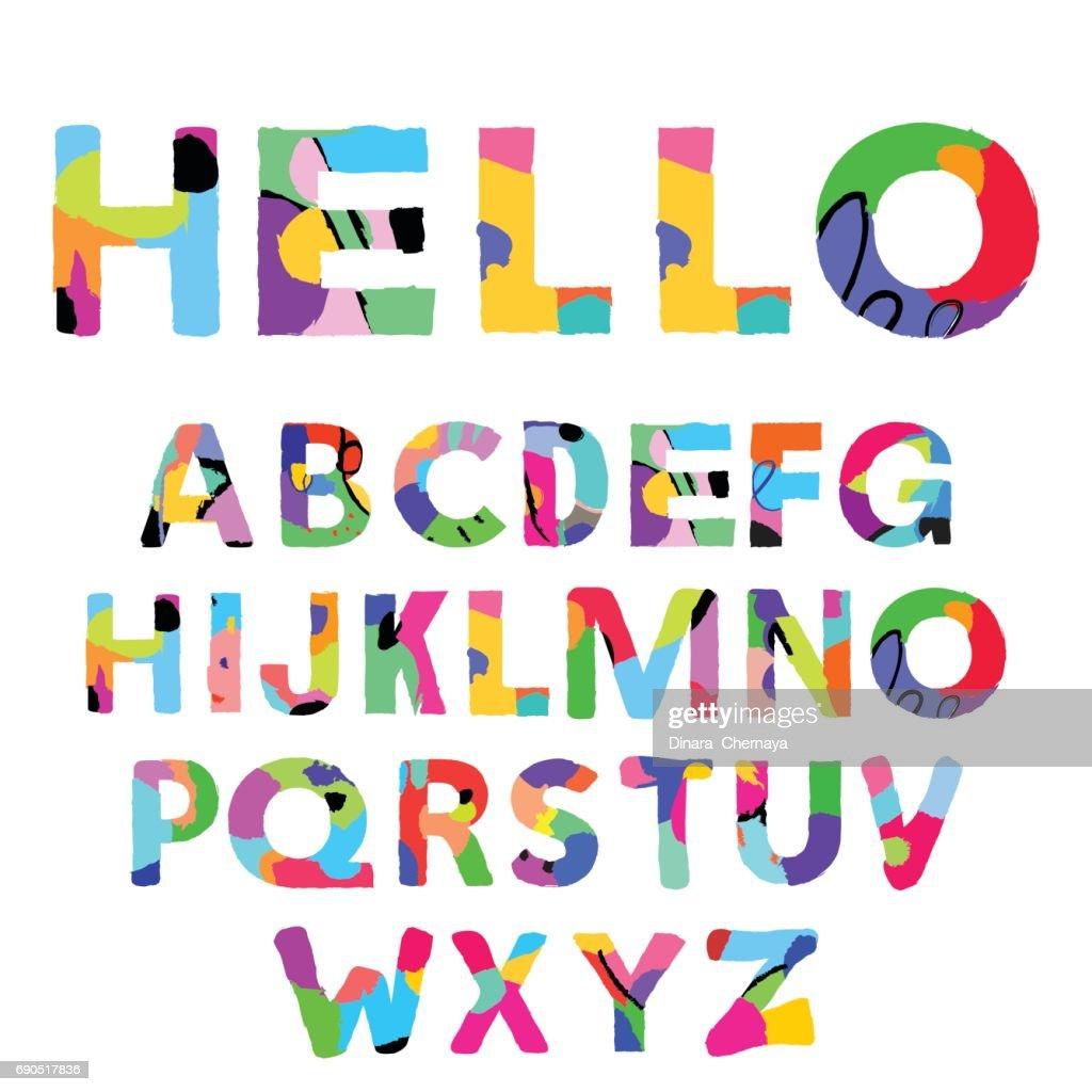 Artistic Alphabet  Creative font.