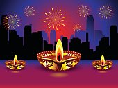 artistic detailed diwali background