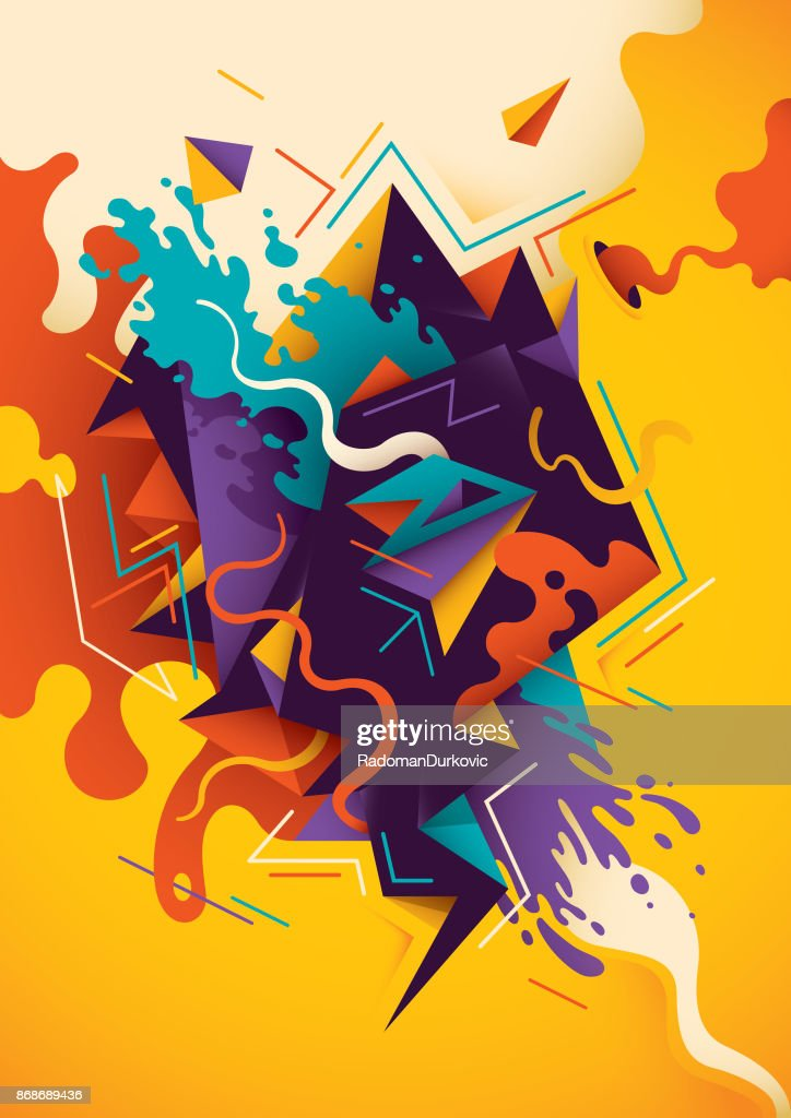Artistic illustration with abstract composition.