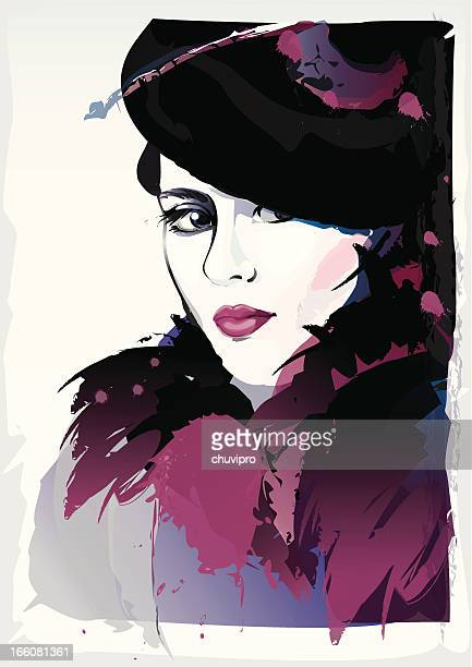 artistic portrait. - humourless stock illustrations, clip art, cartoons, & icons