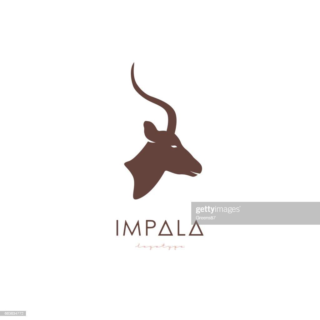 Artistic stylized Impala sign.