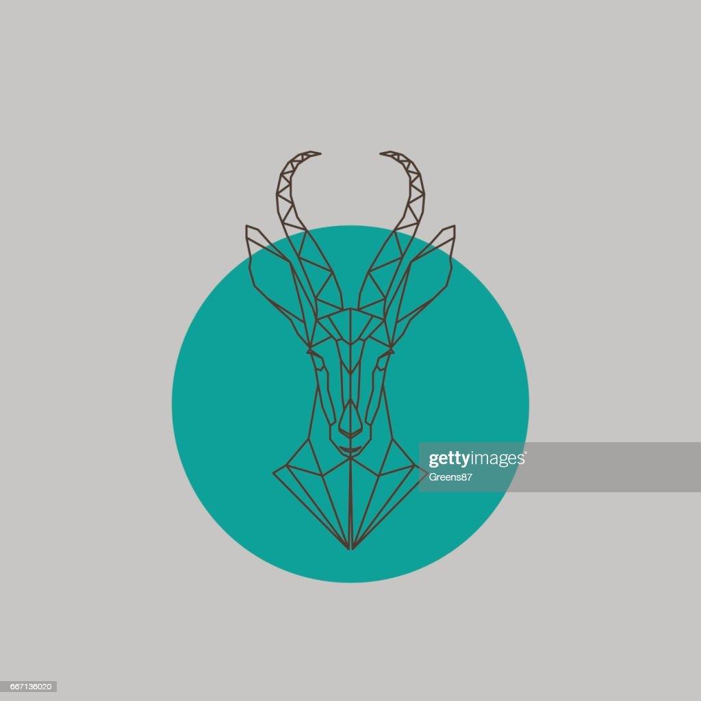 Artistic vector silhouette antelope.