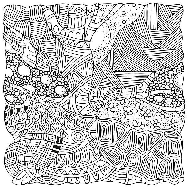 artistically tree zen art patterns sketch by trace fine art