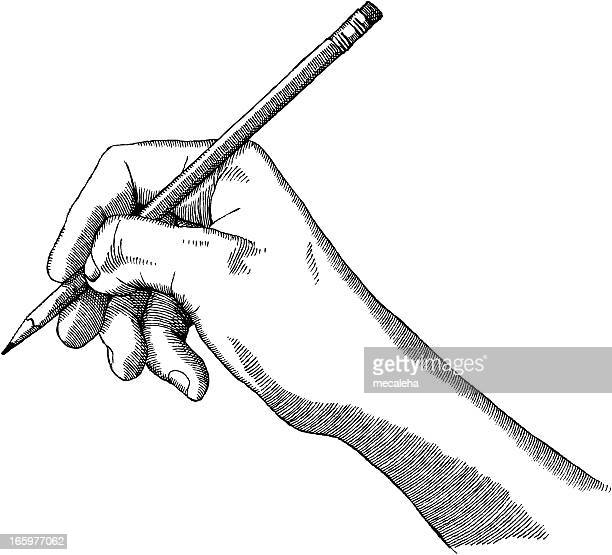 artist's hand - pencil stock illustrations, clip art, cartoons, & icons