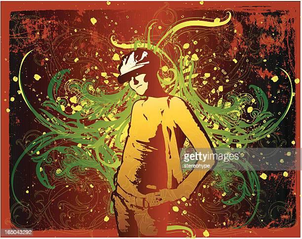 artist's world - androgynous stock illustrations, clip art, cartoons, & icons