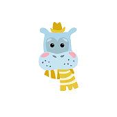 Ð¡artoon character of hippo
