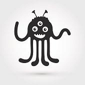artoon cute monster