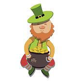 artoon Leprechaun St Patricks Day