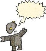 artoon robot with speech bubble