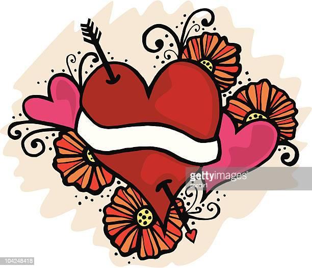 Artsy Tattoo Heart