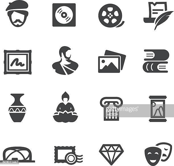 artwork icons - acme series - painting art product stock illustrations