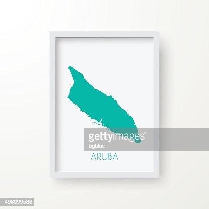 Aruba Map In Frame On White Background Vector Art | Getty Images