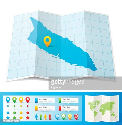 Aruba Map For Design Blank Background Vector Art Getty Images - Aruba map vector
