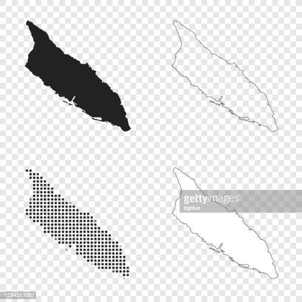 デザインのためのアルバマップ - ブラック、アウトライン、モザイク、ホワイト - オランダ領リーワード諸島点のイラスト素材/クリップアート素材/マンガ素材/アイコン素材