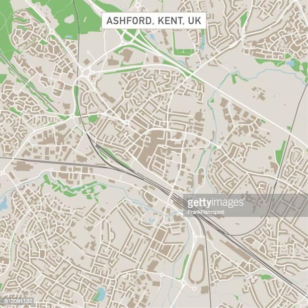 Ashford Kent UK City Street Map