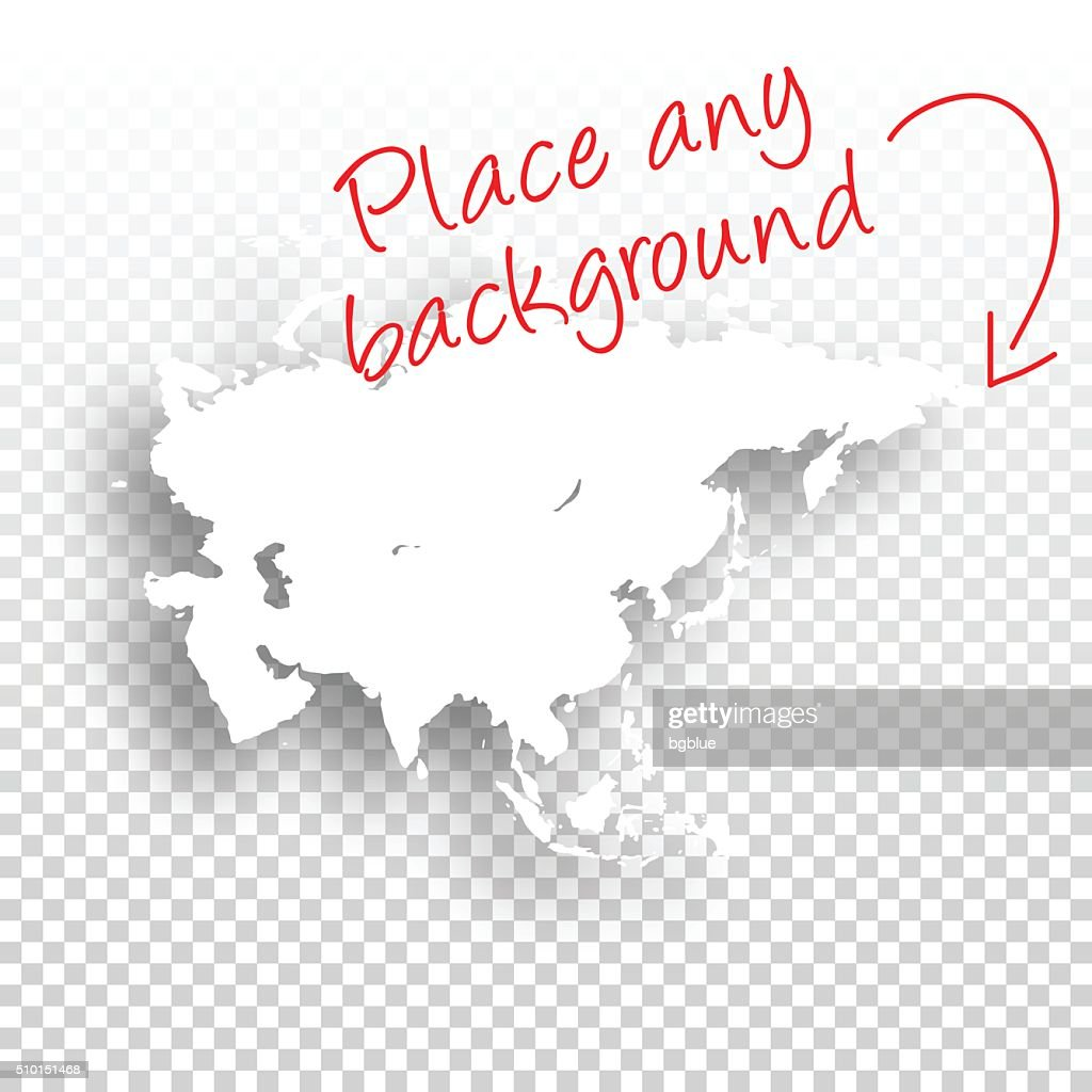 Asia Map for design - Blank Background