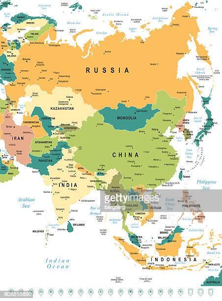 asien karte - nepal stock-grafiken, -clipart, -cartoons und -symbole