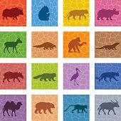 Asian Animals Icon Set
