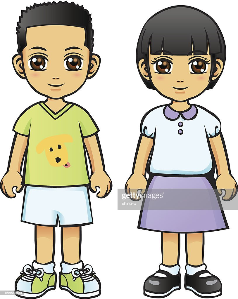 Asian Boy and Girl