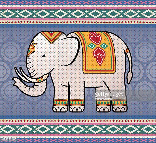 asian elephant - thailand stock-grafiken, -clipart, -cartoons und -symbole