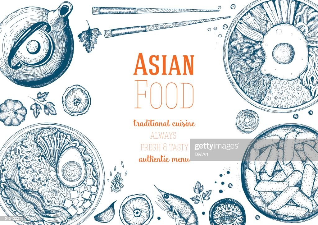Asian Food Frame.