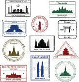 Asian Passport Stamps