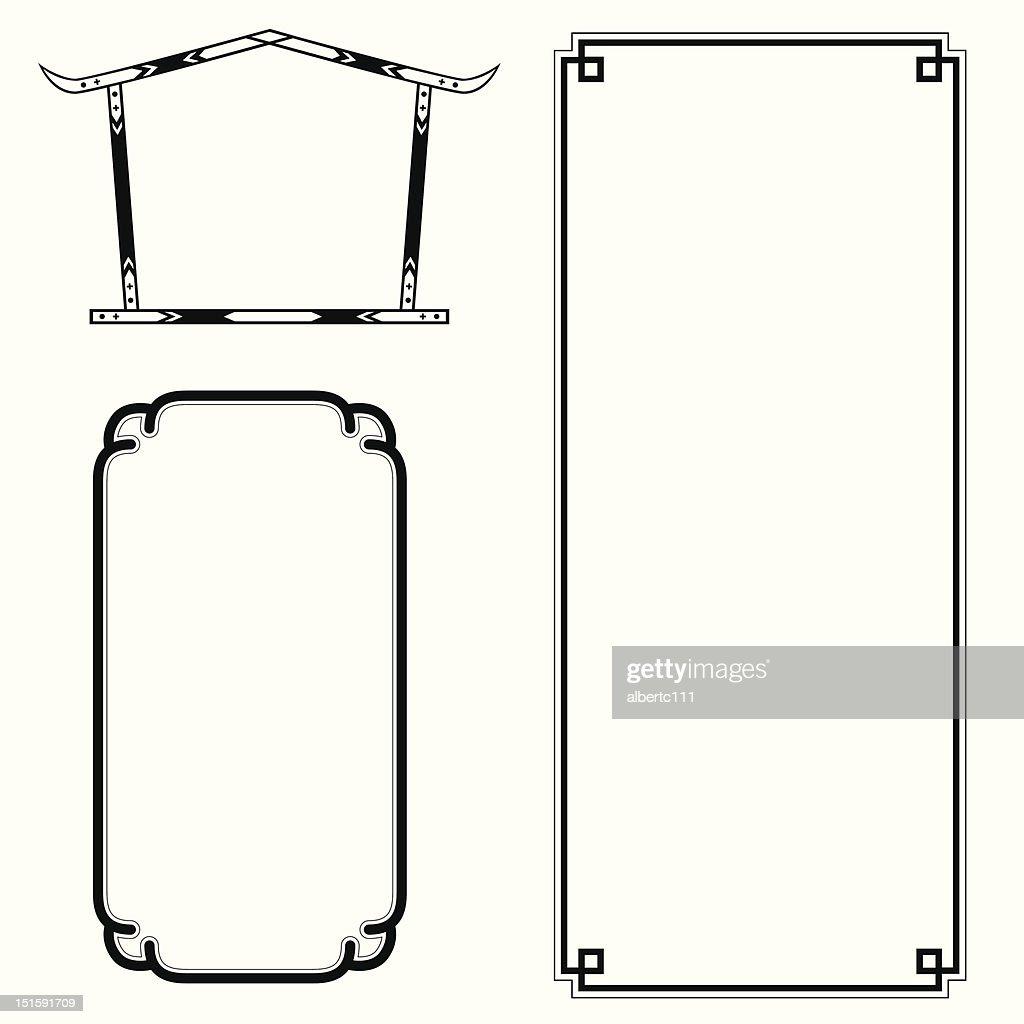 asian picture frames : stock illustration
