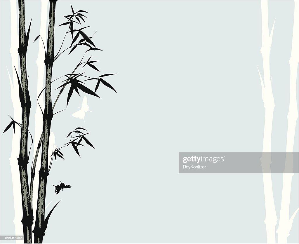 Asian style bamboo print
