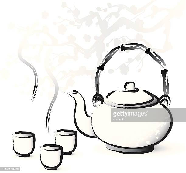 Asian style tea serving