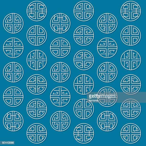 asian-style medallion pattern - medallion stock illustrations, clip art, cartoons, & icons