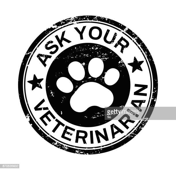 ask your veterinarian - animal track stock illustrations, clip art, cartoons, & icons