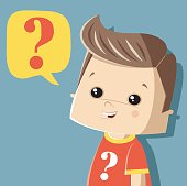 asking little boy