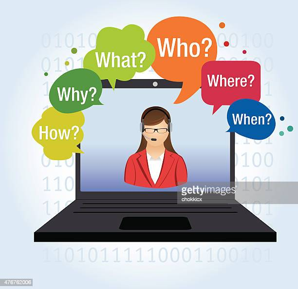 asking questions assistant or operator - assistant stock illustrations, clip art, cartoons, & icons