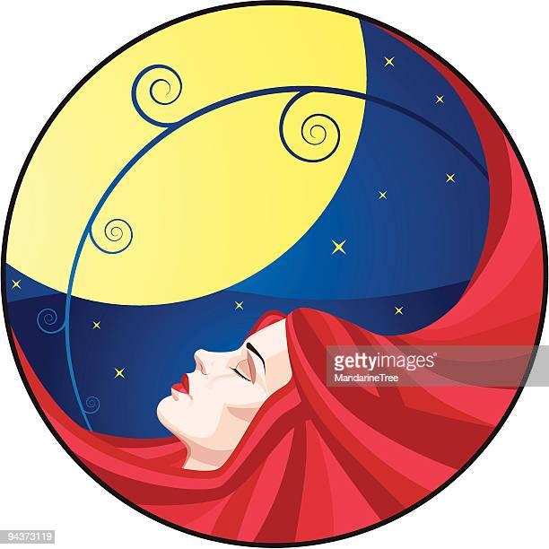 """ilustraciones, imágenes clip art, dibujos animados e iconos de stock de en el """"sleep mode"""", - eyes closed"""