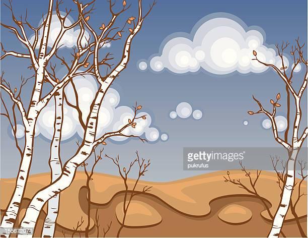 aspen fall - aspen tree stock illustrations, clip art, cartoons, & icons