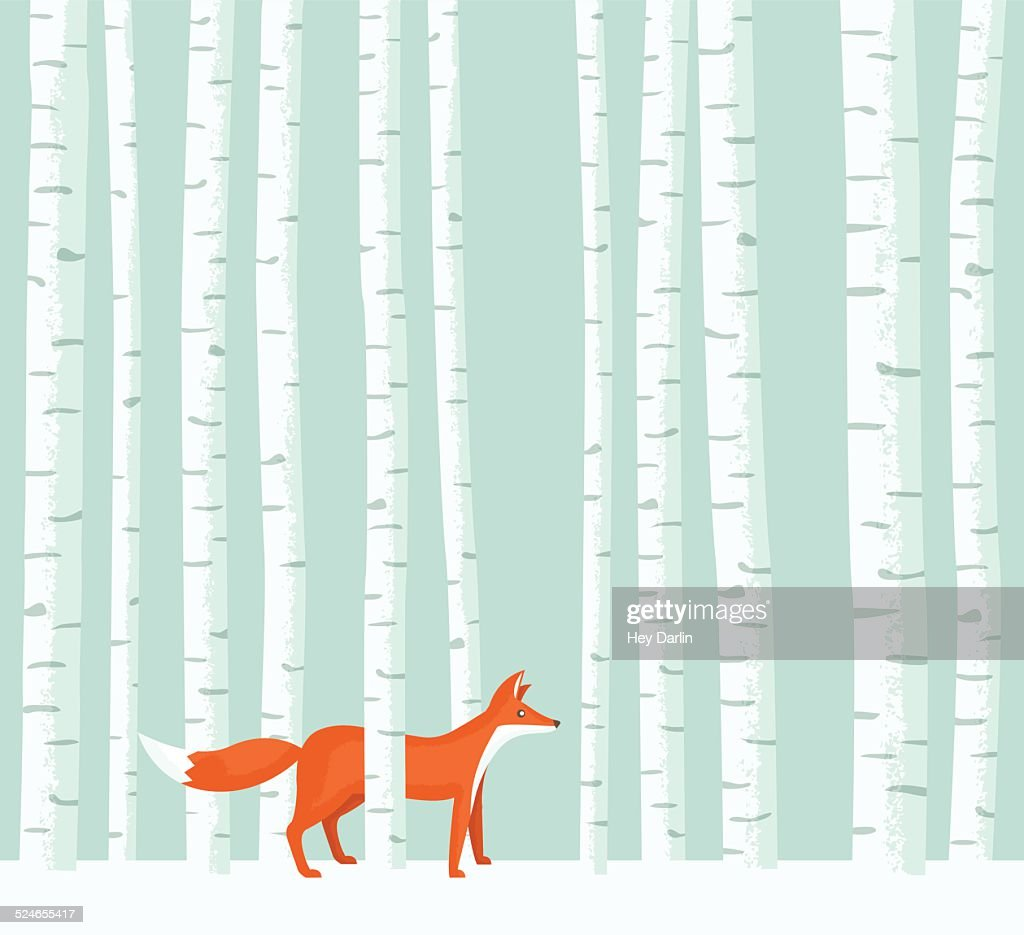 Aspen Fox : stock illustration