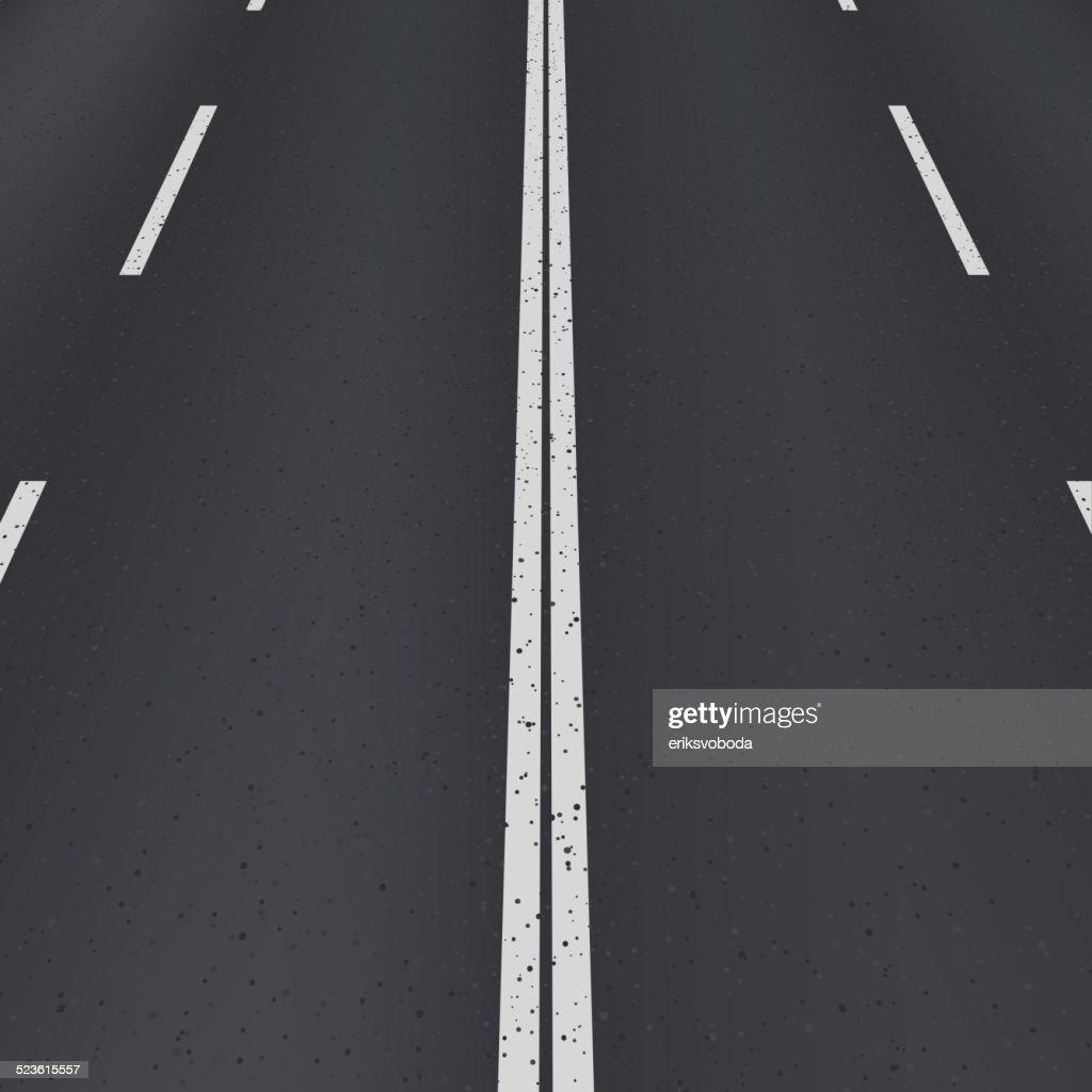 Asphalt highway perspective view.