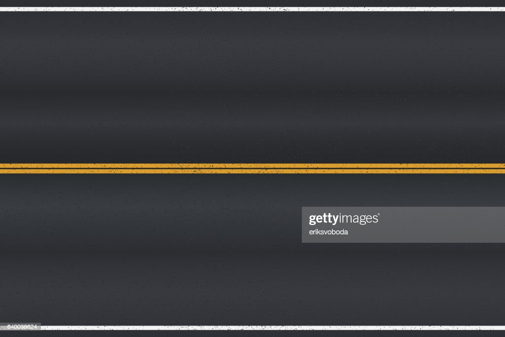 Asphalt road texture with white stripes.