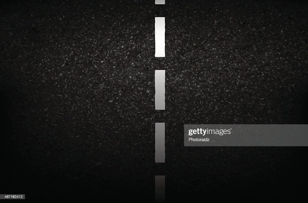 Asphalt texture with road markings background, illustration vect