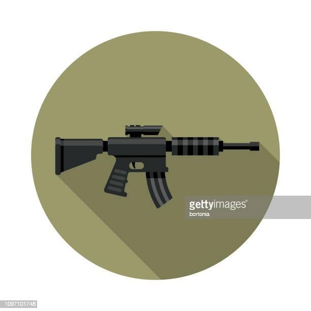 Rifle de asalto militar icono
