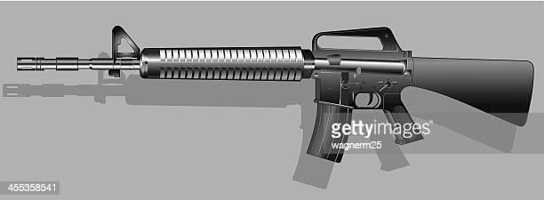 assault weapon - rifle stock illustrations, clip art, cartoons, & icons