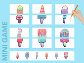 Assemble the pictures. Mini games collections. Ice cream collections.